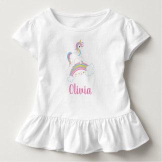 T-shirt Pour Les Tous Petits Anniversaire magique de licorne d'arc-en-ciel