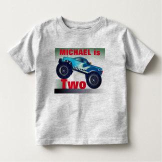 T-shirt Pour Les Tous Petits Anniversaire personnalisé de camion de monstre