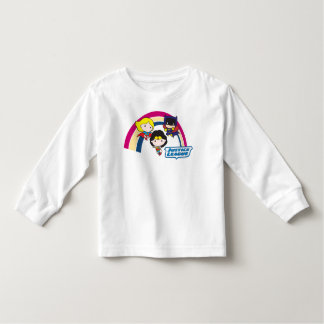 T-shirt Pour Les Tous Petits Arc-en-ciel de ligue de justice de Chibi