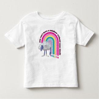T-shirt Pour Les Tous Petits Arc-en-ciel de type de nuage des trolls |