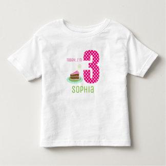 T-shirt Pour Les Tous Petits Aujourd'hui adorable je suis gâteau d'anniversaire