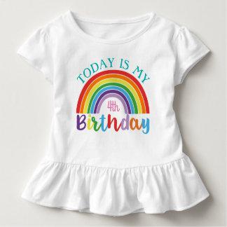 T-shirt Pour Les Tous Petits Aujourd'hui est mon arc-en-ciel d'anniversaire