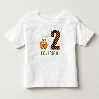T-shirt Pour Les Tous Petits Aujourd'hui j'ai 2 ans peu de citrouille