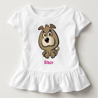 T-shirt Pour Les Tous Petits Bande dessinée mignonne de chiot