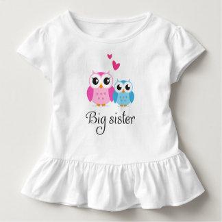 T-shirt Pour Les Tous Petits Bande dessinée mignonne de petit frère de grande