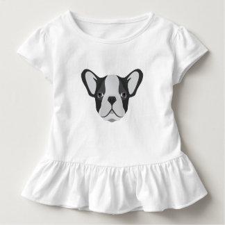 T-shirt Pour Les Tous Petits Bouledogue français mignon d'illustration