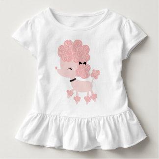 T-shirt Pour Les Tous Petits Caniche rose de Français de bande dessinée