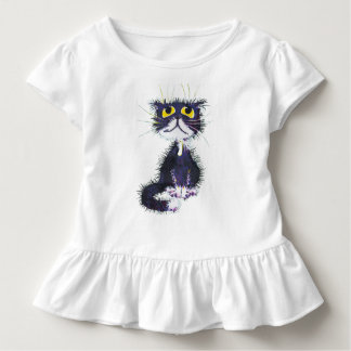 T-shirt Pour Les Tous Petits Chat noir et blanc