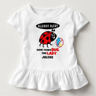 T-shirt Pour Les Tous Petits Chemise de coccinelle d'alerte d'allergie de