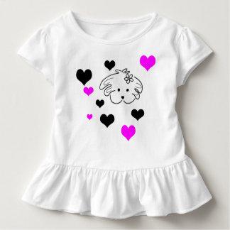 T-shirt Pour Les Tous Petits Chemisette infantile couleur blanche, le monde de