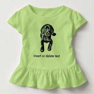 T-shirt Pour Les Tous Petits Chiot de laboratoire de noir de pièce en t de