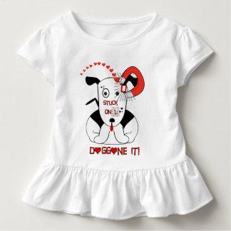 T-shirt Pour Les Tous Petits Collé sur U nom de dieu le !
