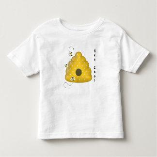 T-shirt Pour Les Tous Petits Cool d'abeille avec la ruche d'abeille