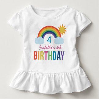 T-shirt Pour Les Tous Petits Couleurs faites sur commande d'arc-en-ciel de la