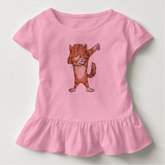 T-shirt Pour Les Tous Petits Danse mignonne de Dabber de chat de limande