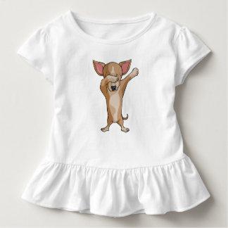 T-shirt Pour Les Tous Petits Danse mignonne de Dabber de chiwawa de limande