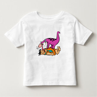 T-shirt Pour Les Tous Petits Dino léchant le Flintstone de Fred