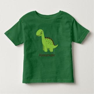 T-shirt Pour Les Tous Petits Dinosaure vert mignon de Personalizable