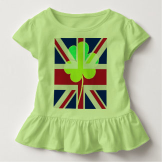 T-shirt Pour Les Tous Petits Drapeau BRITANNIQUE Irlande de trèfle de shamrock