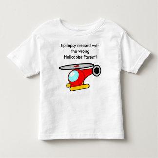 T-shirt Pour Les Tous Petits Épilepsie salie avec le parent faux d'hélicoptère