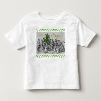 T-shirt Pour Les Tous Petits Fête de Noël vintage de chats de Louis Wain