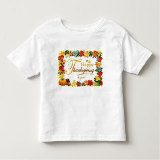 T-shirt Pour Les Tous Petits Feuille coloré de bon thanksgiving vintage