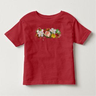 T-shirt Pour Les Tous Petits Fleurs et ruban
