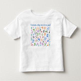 T-shirt Pour Les Tous Petits Grampa, me jouent du jazz !