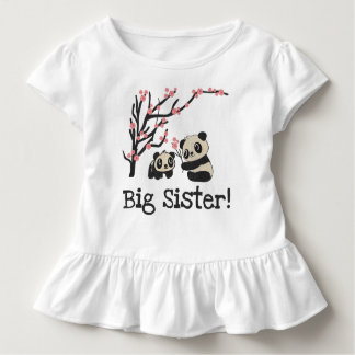 T-shirt Pour Les Tous Petits Grande soeur d'ours panda