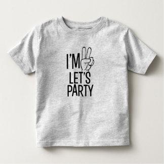 T-shirt Pour Les Tous Petits J'ai deux ans nous ai laissés Party la chemise