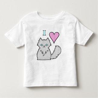 T-shirt Pour Les Tous Petits J'aime les minous blancs pelucheux