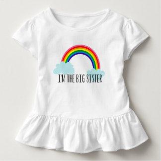 T-shirt Pour Les Tous Petits Je suis la grande soeur que l'arc-en-ciel font ses