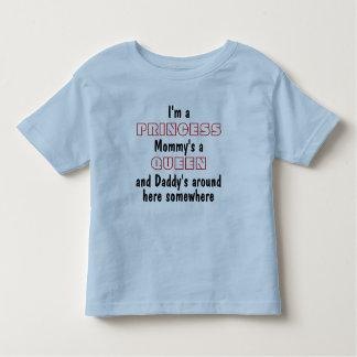 T-shirt Pour Les Tous Petits Je suis une princesse, une reine de la maman et un