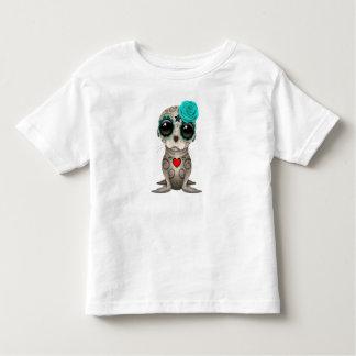 T-shirt Pour Les Tous Petits Jour bleu de l'otarie morte de bébé