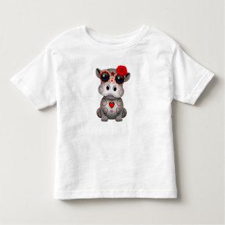 T-shirt Pour Les Tous Petits Jour rouge de l'hippopotame mort de bébé