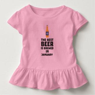 T-shirt Pour Les Tous Petits La meilleure bière est en janvier Zxe8k brassé
