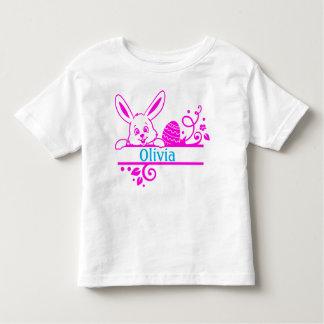 T-shirt Pour Les Tous Petits Lapin et oeuf de Pâques personnalisés