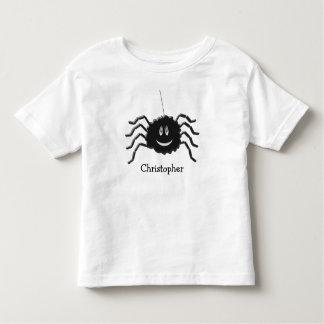 T-shirt Pour Les Tous Petits L'araignée ajoutent juste le nom