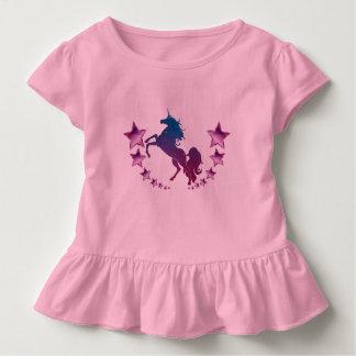 T-shirt Pour Les Tous Petits Licorne avec des étoiles