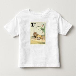 T-shirt Pour Les Tous Petits Lion sur l'alphabet de la savane de désert