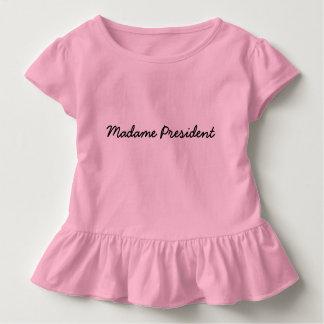 T-shirt Pour Les Tous Petits Madame le Président Tee