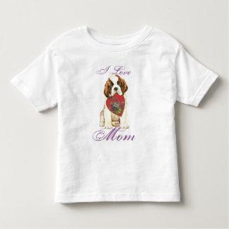 T-shirt Pour Les Tous Petits Maman de coeur de St Bernard