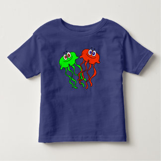 T-shirt Pour Les Tous Petits Méduses mignonnes de bande dessinée de vecteur