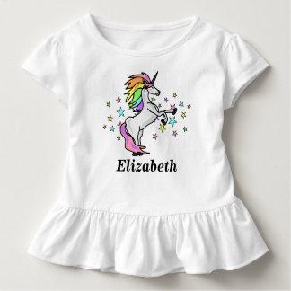 T-shirt Pour Les Tous Petits Nom adorable, arc-en-ciel et licorne