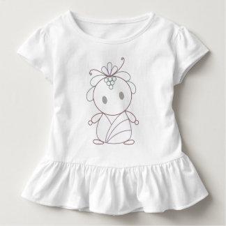 T-shirt Pour Les Tous Petits Nymphe mignonne de fleur