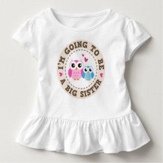 T-shirt Pour Les Tous Petits Petit hibou bleu de frère Im allant être grande