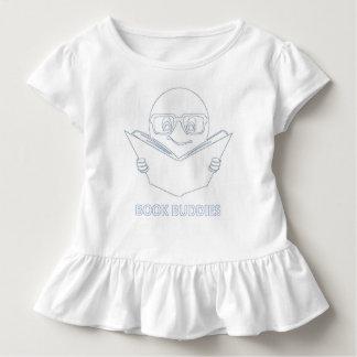 T-shirt Pour Les Tous Petits Pièce en t hérissée par coutume d'amis de livre -