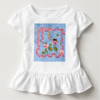 T-shirt Pour Les Tous Petits Pois doux humoristiques roses et personnes de