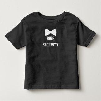 T-shirt Pour Les Tous Petits Porteur d'alliances de sécurité d'anneau