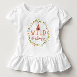 T-shirt Pour Les Tous Petits Sauvage et chemise florale tribale de